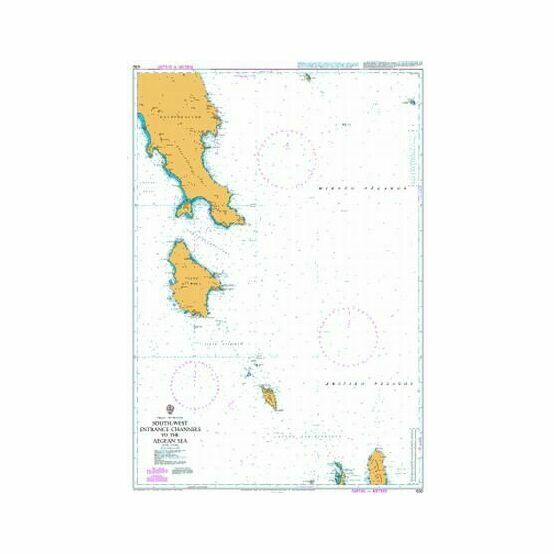 1030 South-West Entrance Channels to the Aegean Sea Admiralty Chart