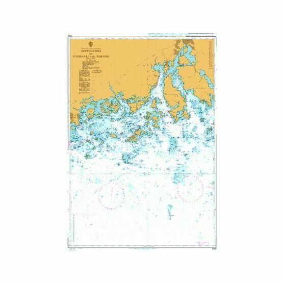 3817 Baltic Sea - Gulf of Finland, Approaches to Porvoo Admiralty Chart