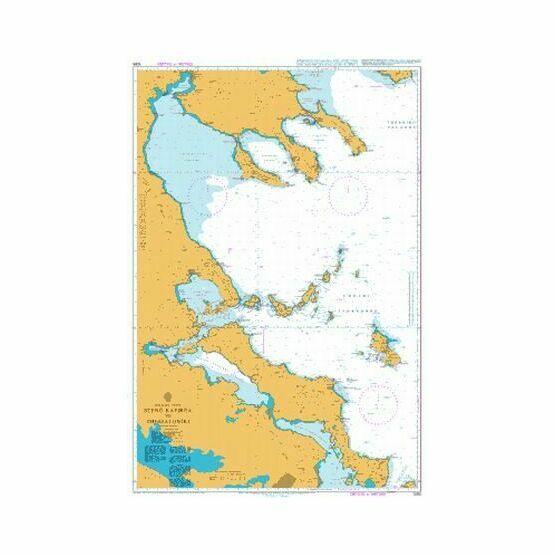 1085 Steno Kafirea to Thessaloniki Admiralty Chart