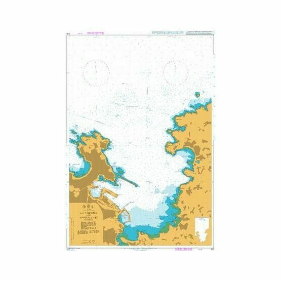 1110 La Coruna and Approaches Admiralty Chart