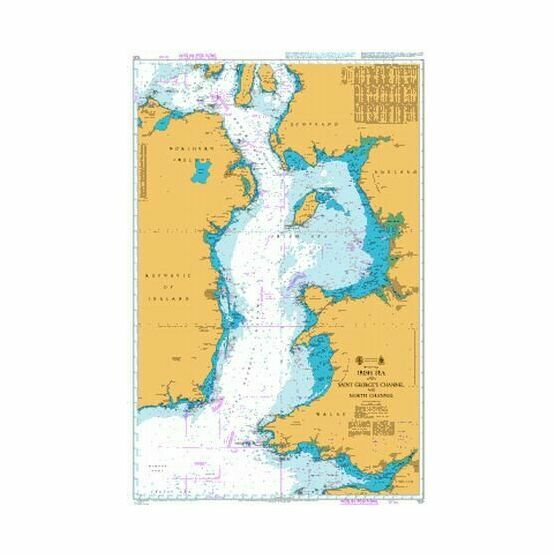 1121 Irish Sea with St. George\'s & North Channel Admiralty Chart