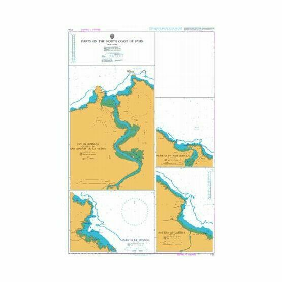1150 Ports on the North Coast of Spain Admiralty Chart
