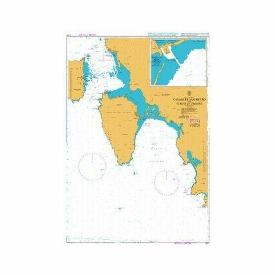 1207 Canale di San Pietro and Golfo di Palmas Admiralty Chart