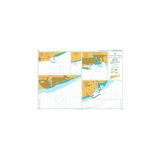 1380 Ports and Anchorages in Ghana- Togo and Benin Admiralty Chart