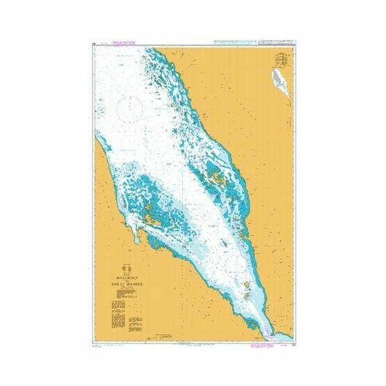 157 Red Sea,Masamirit to Bab el Mandeb Admiralty Chart