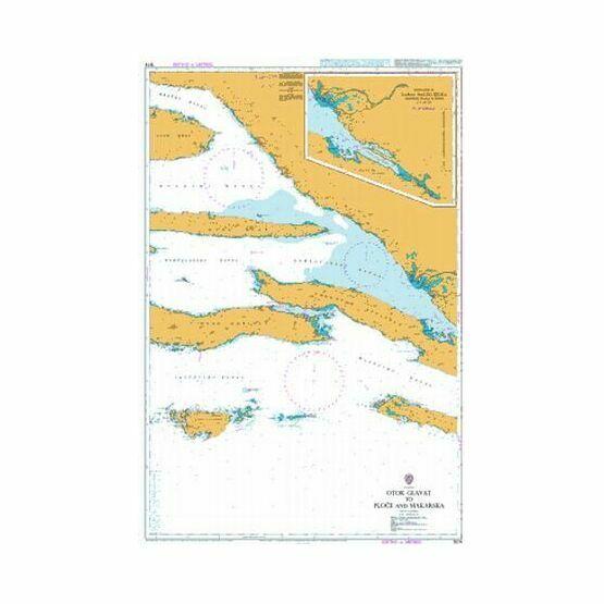 1574 Otok Glavat to Ploce and Makarska Admiralty Chart