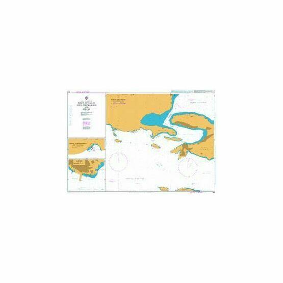 1598 Poros Megaron Ayios Theodhoroi & Elevsis Admiralty Chart
