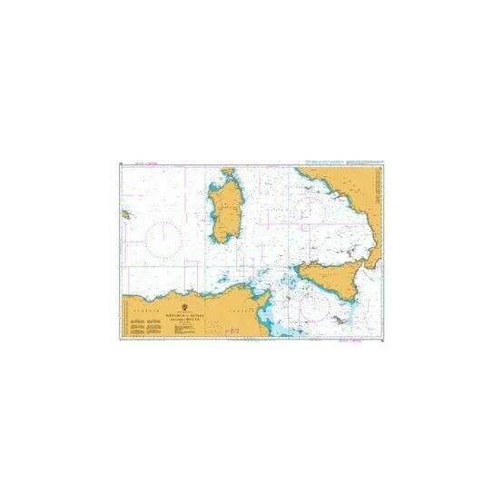 167 Genova to Sicilian Chanel & Str. Di Messina Admiralty Chart