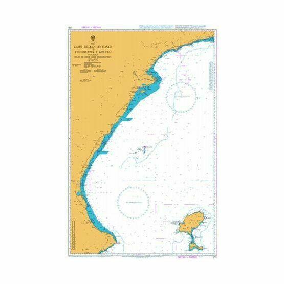 1701 Cabo de San Antonio to Villanueva y Geltru Admiralty Chart