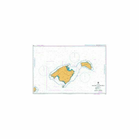 1703 Mallorca and Menorca Admiralty Chart