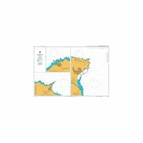 1710 Cherchell, Dellys and Bejaia Admiralty Chart