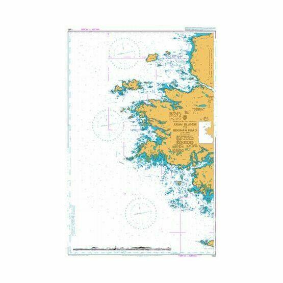 1820 Aran Islands to Roonah Head Admiralty Chart