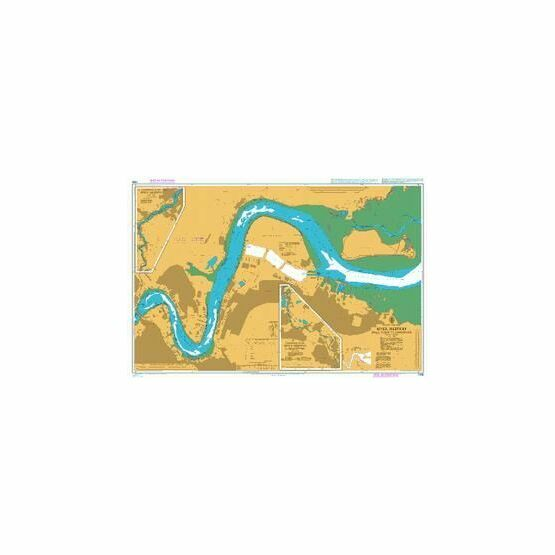1835 River Medway - Folly Point to Maidstone Admiralty Chart