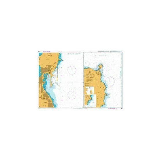 1856 Gran Canaria: Approaches to Puerto de la Luz Admiralty Chart