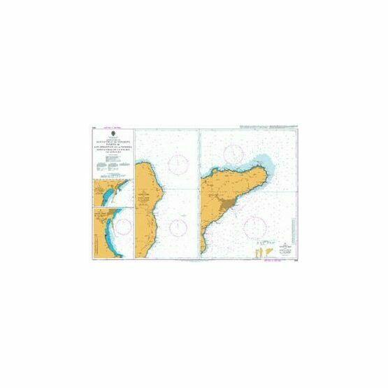 1858 Approaches to Santa Cruz de Tenerife etc. Admiralty Chart