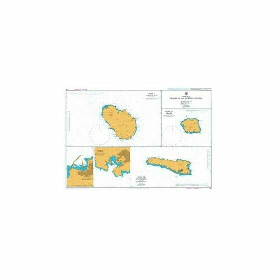193 Islands in the Sicilian Channel Admiralty Chart