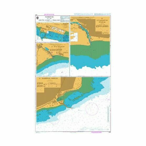 1991 Harbours on the South Coast of England Admiralty Chart