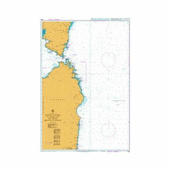 1992 Porto Vecchio to Arbatax inc. Bonifacio Strait Admiralty Chart