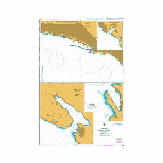 1996 Ports in Rijecki Zaljev Admiralty Chart