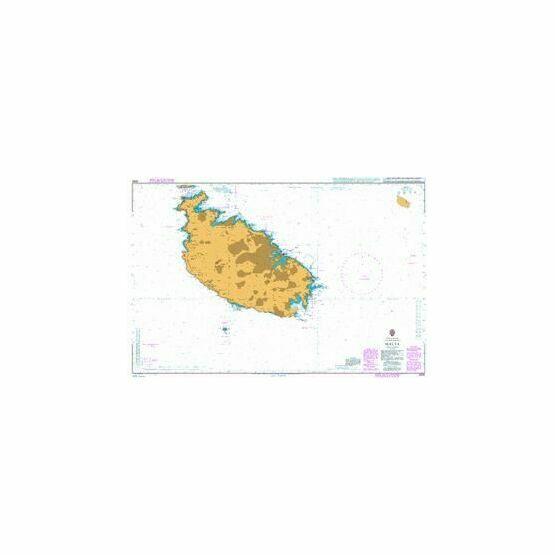 2538 Malta Admiralty Paper Sea Chart
