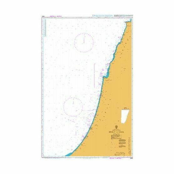 2634 Beirut to Gaza Admiralty Chart