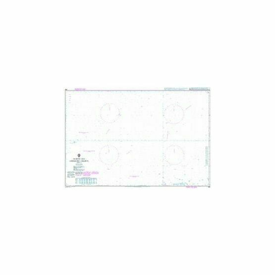 268 North Sea Offshore Charts Sheet 9 Admiralty Chart