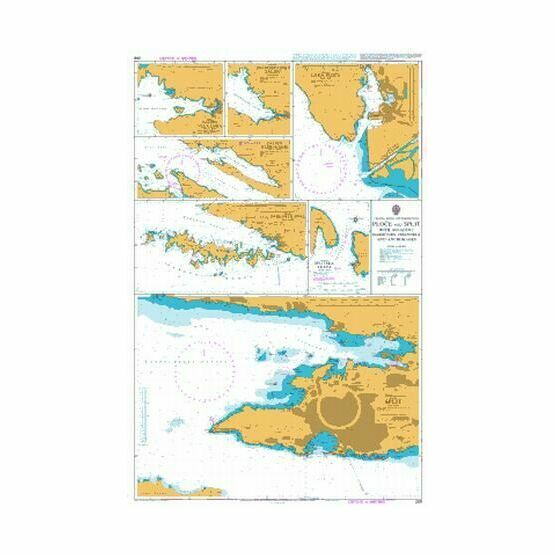 269 Ploce and Split with Adjacent Harbours Admiralty Chart