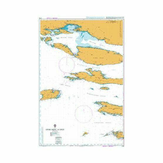 2712 Otok Susac to Split Admiralty Chart