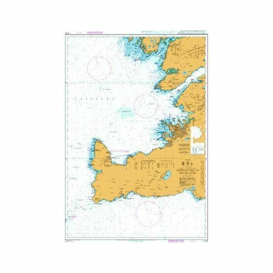 2734 Approaches to Reykjavik Admiralty Chart