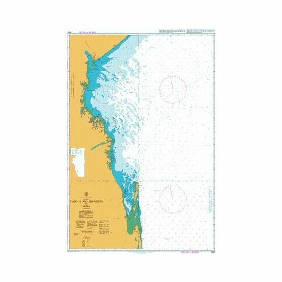 2932 Cabo de Sao Sebastiao to Beira Admiralty Chart