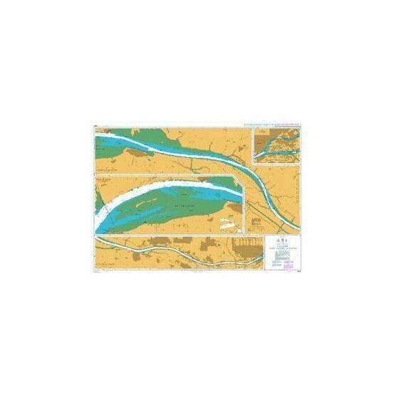 2985 La Loire, Saint-Nazaire to Nantes Admiralty Chart