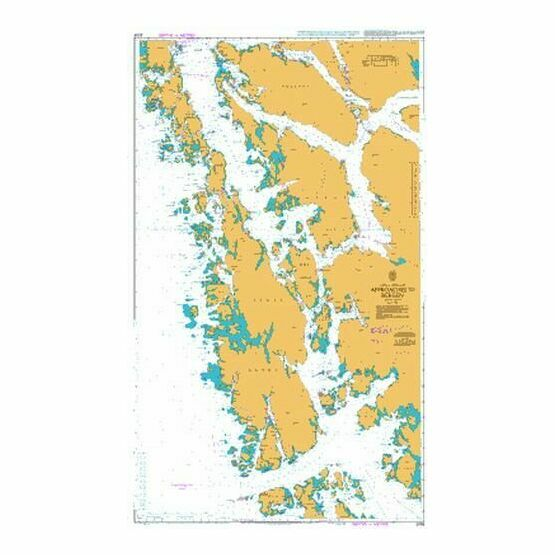 3555 Bergen to Fedje Admiralty Chart
