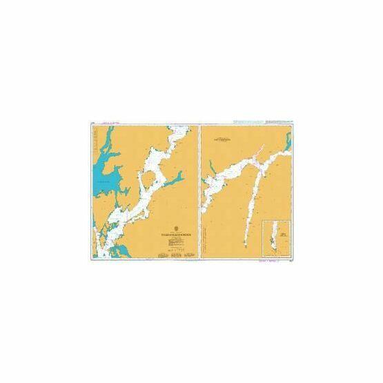 3550 Sunnhordlands jordene with continuation of Arkraforden Admiralty Chart