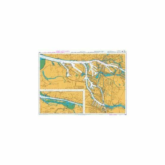3268 The Elbe, Schulau to Hamburg Admiralty Chart