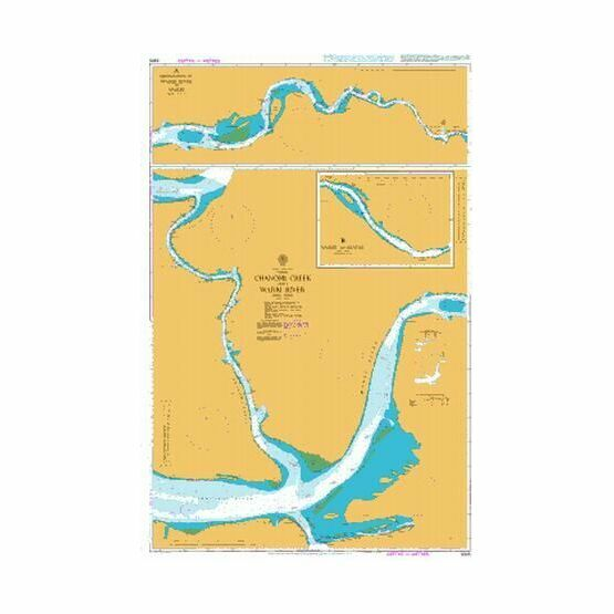 3305 Chanomi Creek and Warri River Admiralty Chart