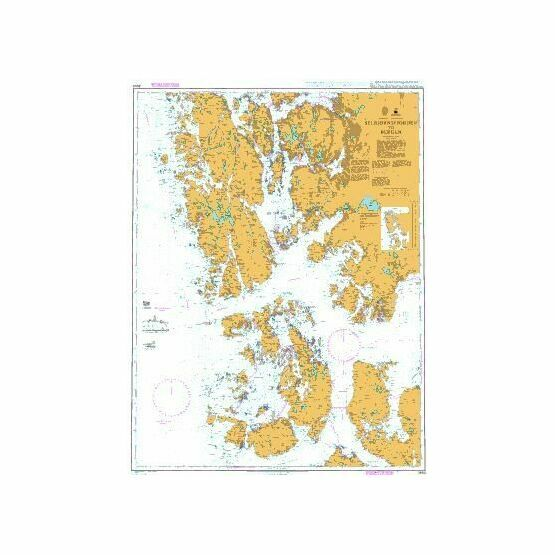 3553 Selbjornsfjorden to Bergen Admiralty Chart