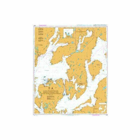 3554 Samnangerfjorden - Bjornafjorden and Outer Hardangerfjorden Admiralty Chart