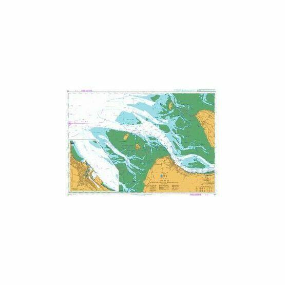 3619 The Elbe,Scharhorn Riff to Medemgrund Admiralty Chart