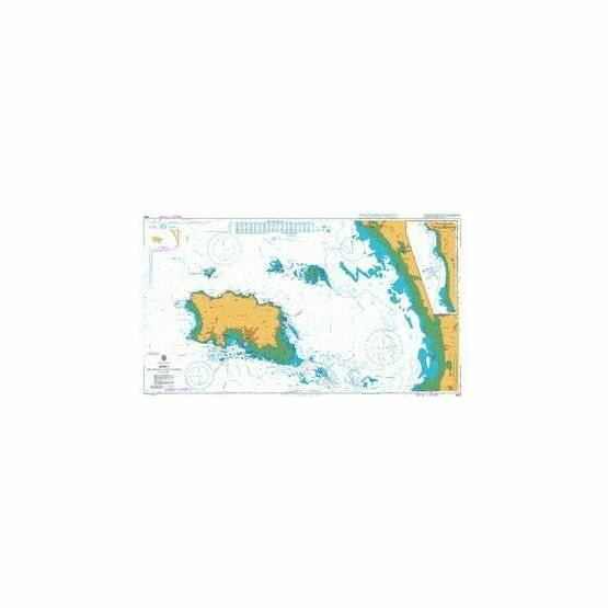 3655 Jersey and adjacent Coast of France Admiralty Chart