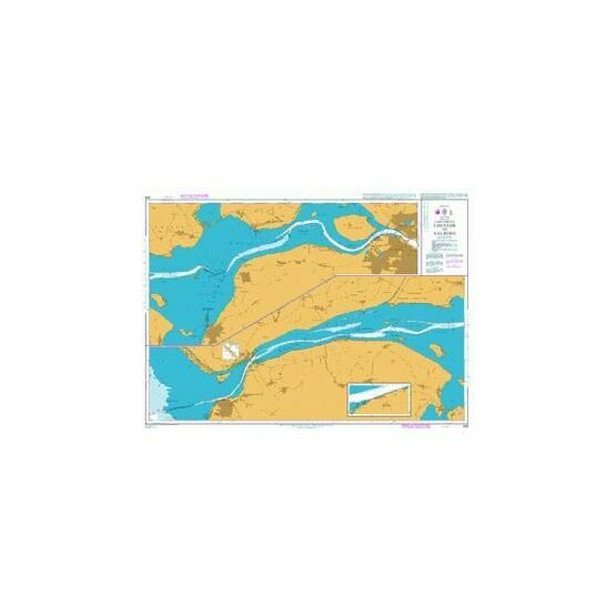 428 Limfjorden,Logstor to Aalborg Admiralty Chart