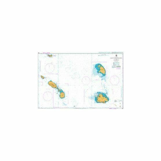 584 Saint Barthelemy to Antigua Admiralty Chart