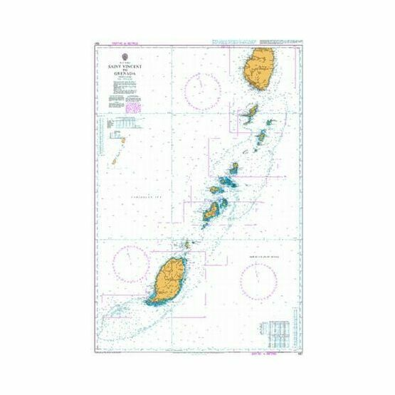597 Saint Vincent to Grenada Admiralty Chart