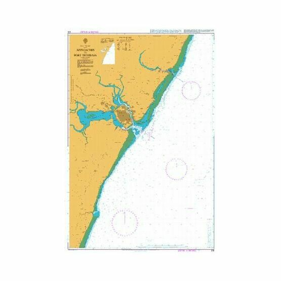 616 Approaches to Port Mombasa Admiralty Chart