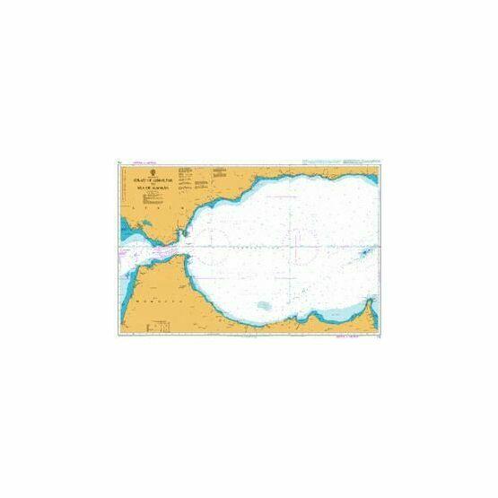 773 Strait of Gibraltar to Isla de Alboran Admiralty Chart