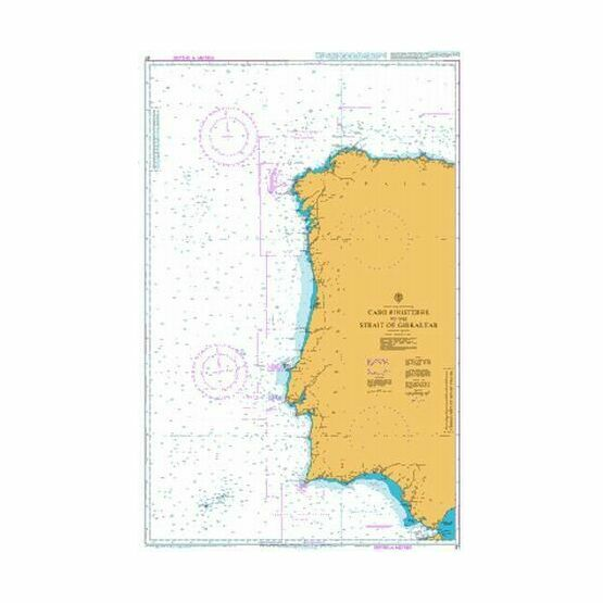 87 Cabo Finisterre to the Strait of Gibraltar Admiralty Chart