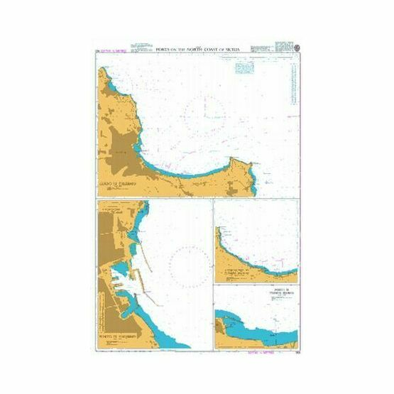 963 Ports on the North Coast of Sicilia Admiralty Chart