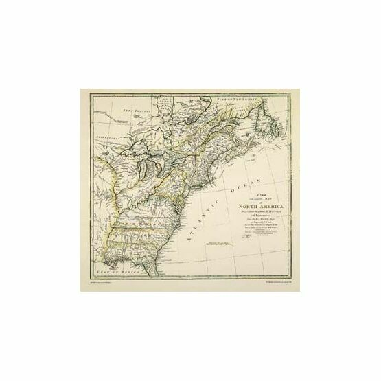 A New and Accurate Map of North America ARC 5462 Admiralty Collection Archive Chart