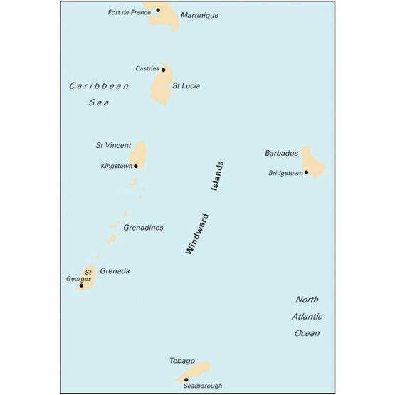 Imray Chart B5 Martinique to Tobago and Barbados