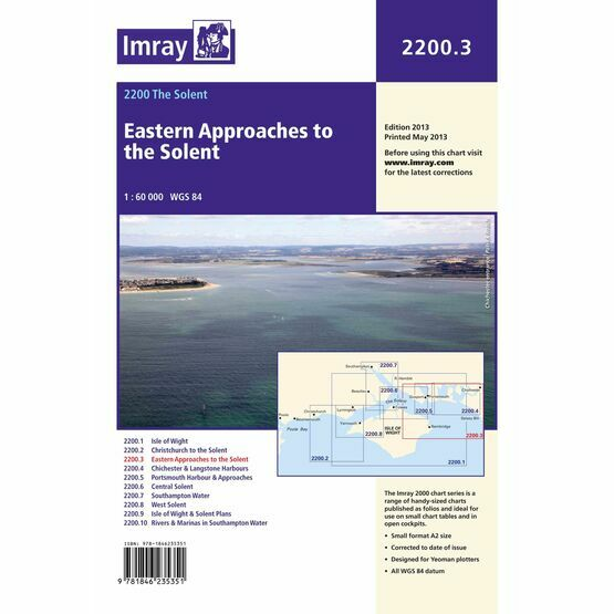 Imray Chart 2200.3 Eastern Approaches to the Solent