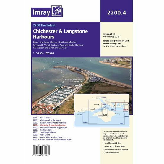 Imray Chart 2200.4 Chichester and Langstone Harbours
